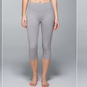 Lululemon Heathered Grey Seamlessly Street Crop 8